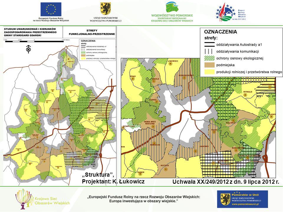 Struktura, Projektant: K. Łukowicz Uchwała XX/249/2012 z dn. 9 lipca 2012 r.