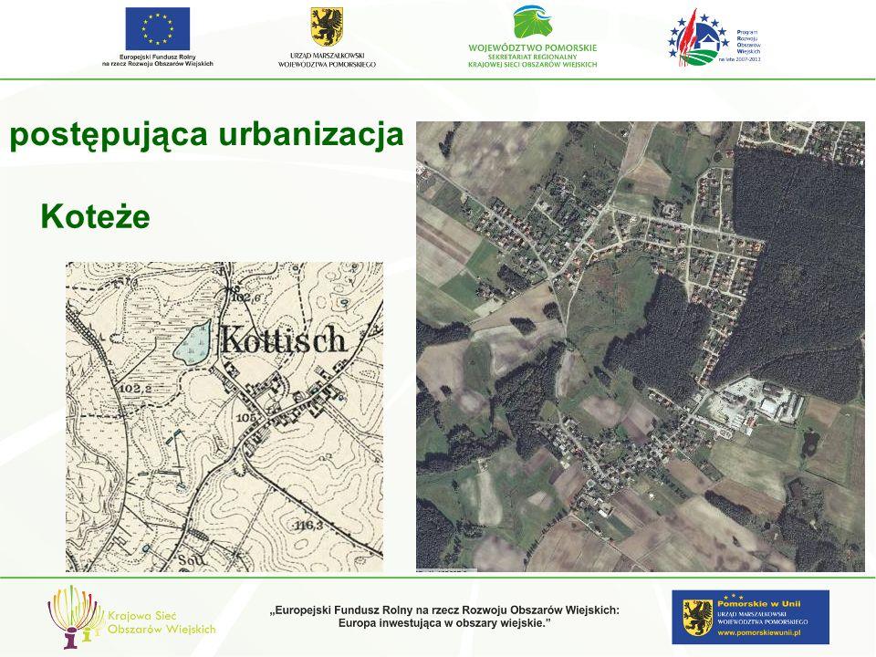postępująca urbanizacja gm. Starogard Koteże