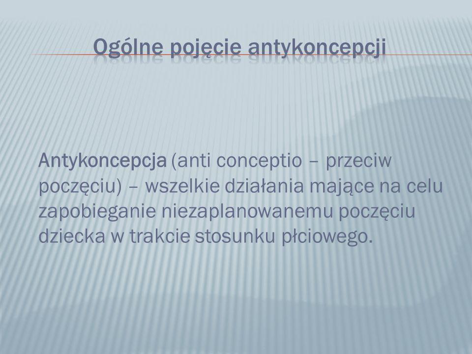 Antykoncepcja (anti conceptio – przeciw poczęciu) – wszelkie działania mające na celu zapobieganie niezaplanowanemu poczęciu dziecka w trakcie stosunk