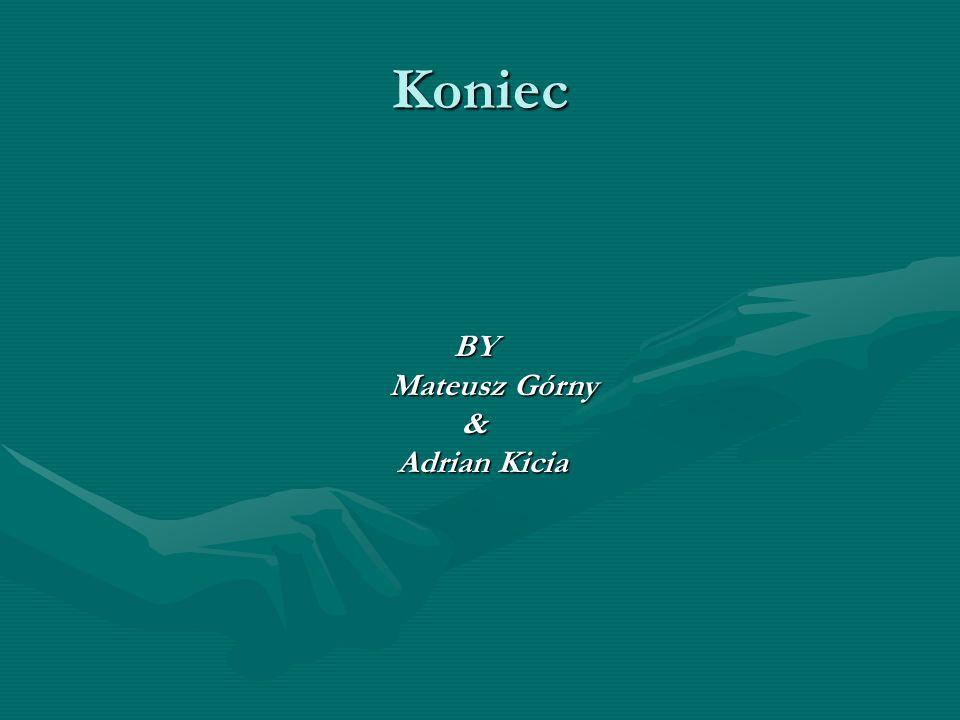 Koniec BY Mateusz Górny & Adrian Kicia Adrian Kicia