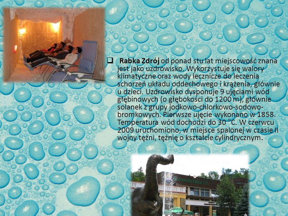 Rabka Zdrój od ponad stu lat miejscowość znana jest jako uzdrowisko. Wykorzystuje się walory klimatyczne oraz wody lecznicze do leczenia schorzeń ukła