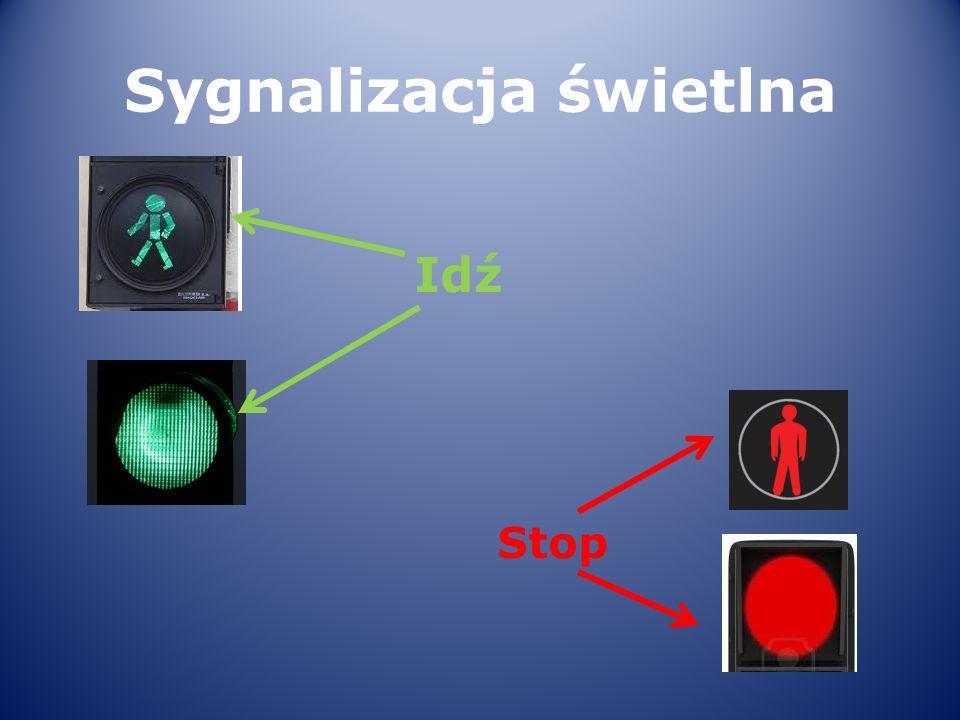 Sygnalizacja świetlna Idź Stop