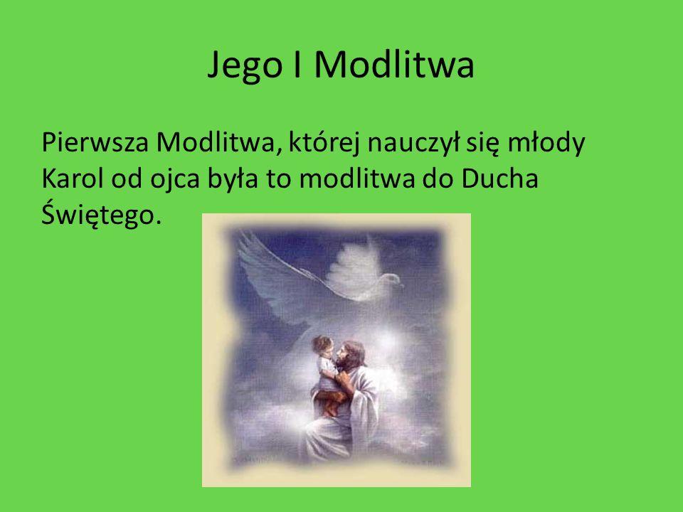 Papież pogrążony w modlitwie Jan Paweł II Modlił się codziennie.