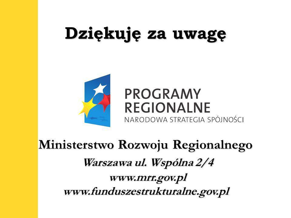 24 Ministerstwo Rozwoju Regionalnego Warszawa ul.