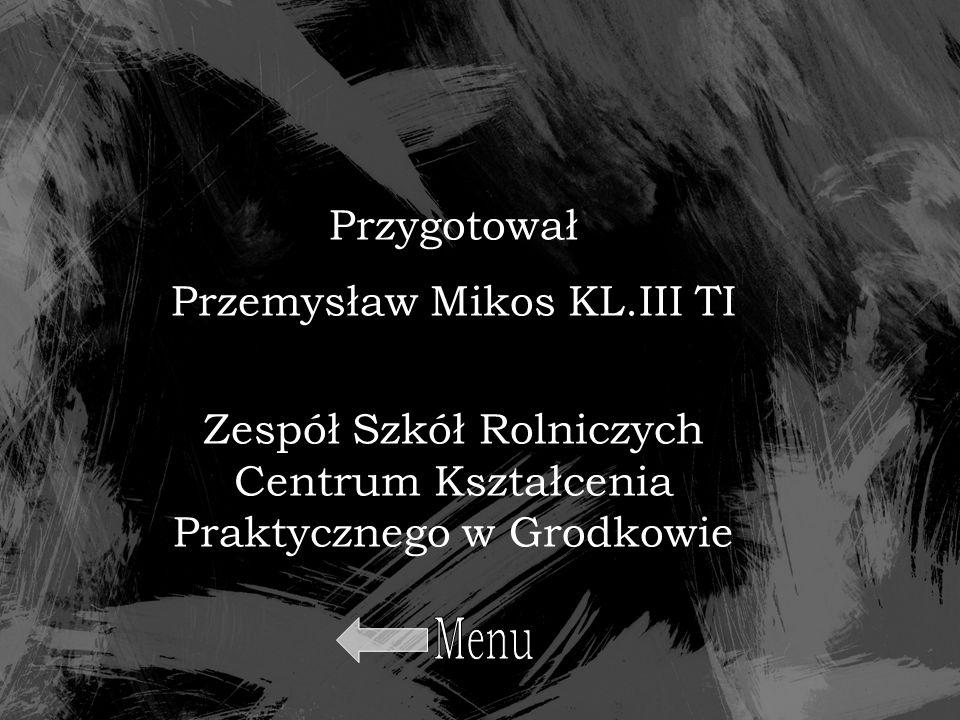 Przygotował Przemysław Mikos KL.III TI Zespół Szkół Rolniczych Centrum Kształcenia Praktycznego w Grodkowie
