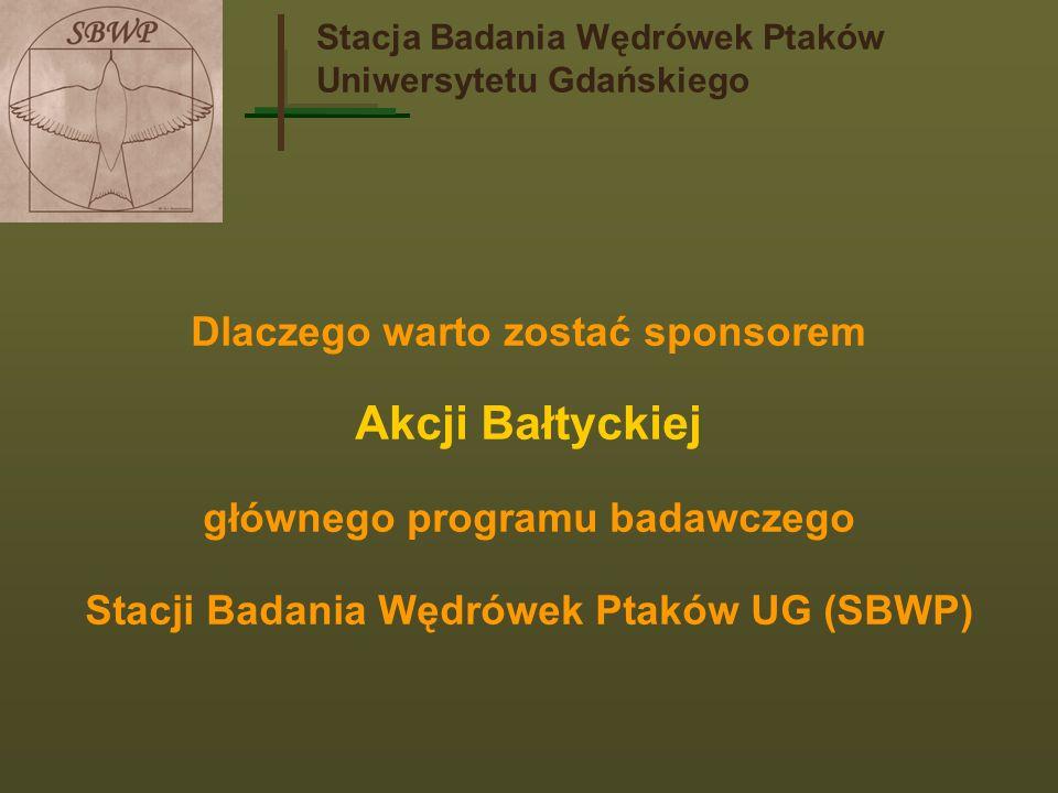 Stacja Badania Wędrówek Ptaków Uniwersytetu Gdańskiego AKCJA BAŁTYCKA Program badawczy prowadzony od 1961 r.