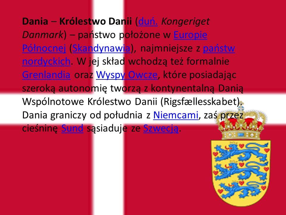 Ustrój polityczny Dania jest monarchią konstytucyjną – głową państwa jest królowa Małgorzata II.