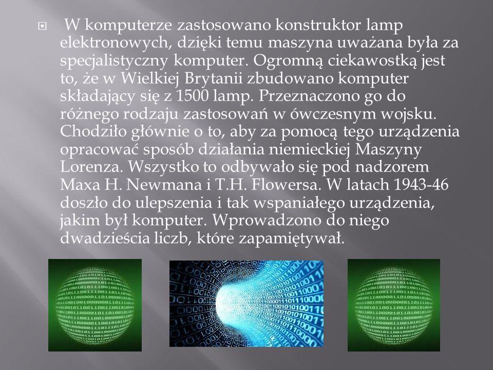 W komputerze zastosowano konstruktor lamp elektronowych, dzięki temu maszyna uważana była za specjalistyczny komputer. Ogromną ciekawostką jest to, że