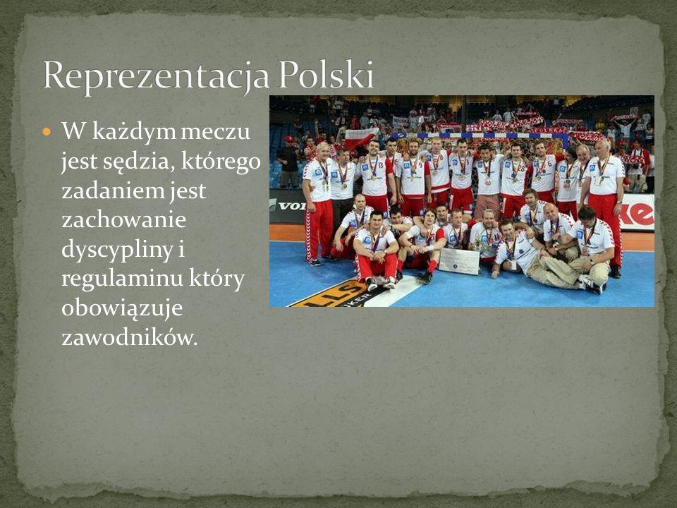W każdym meczu jest sędzia, którego zadaniem jest zachowanie dyscypliny i regulaminu który obowiązuje zawodników.