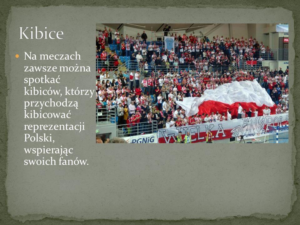 Na meczach zawsze można spotkać kibiców, którzy przychodzą kibicować reprezentacji Polski, wspierając swoich fanów.