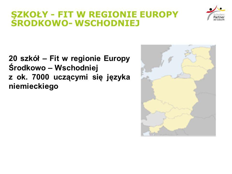 SZKOŁY - FIT W REGIONIE EUROPY ŚRODKOWO- WSCHODNIEJ 20 szkół – Fit w regionie Europy Środkowo – Wschodniej z ok.