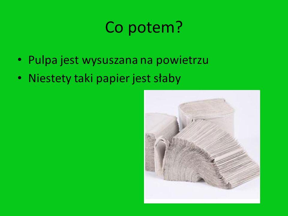 Przeznaczenie Papier wytworzony z drewna jest głównie wykorzystywany do robienia rzeczy jednorazowego użytku, np.