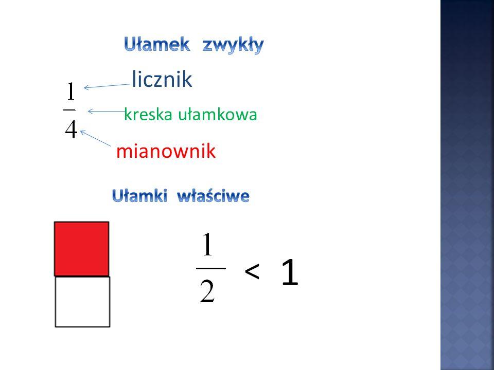 = 4 4 Ułamek można rozszerzyć, mnożąc jego licznik i mianownik przez tę samą liczbę różną od zera.