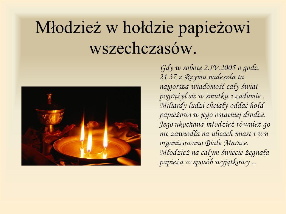 Jan Paweł II 1920-2005 Ojcze Święty byłeś niezwykłym człowiekiem.