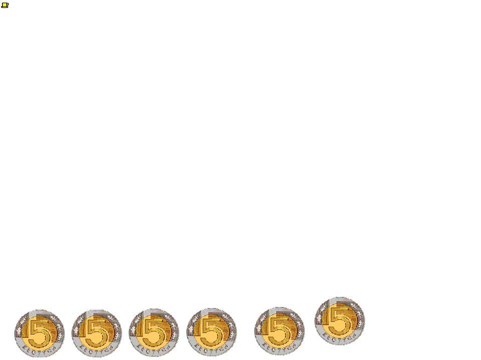 Ilość monet w równoległoboku, to iloczyn ilości rzędów przez ilość monet w rzędzie. Zauważyliśmy że ilość rzędów w równoległobokach jest o 1 większa o