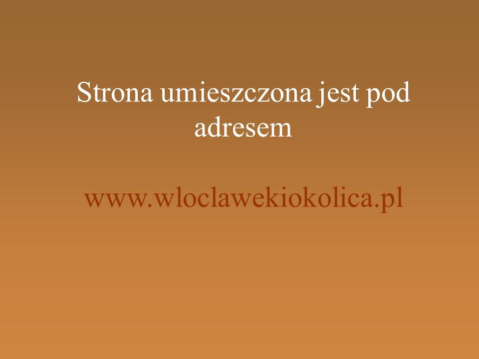 Strona umieszczona jest pod adresem www.wloclawekiokolica.pl