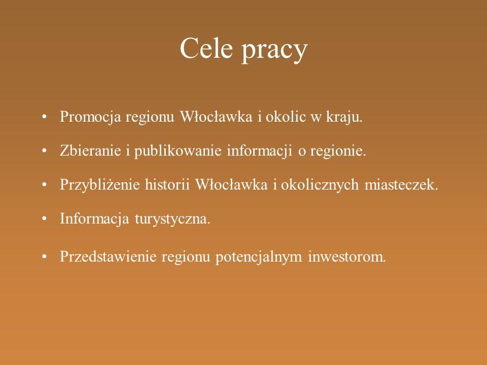 Cele pracy Promocja regionu Włocławka i okolic w kraju.