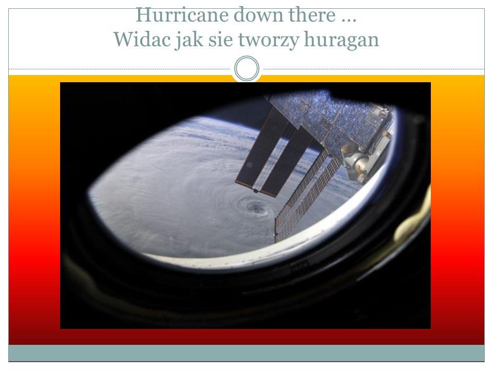 Hurricane down there … Widac jak sie tworzy huragan