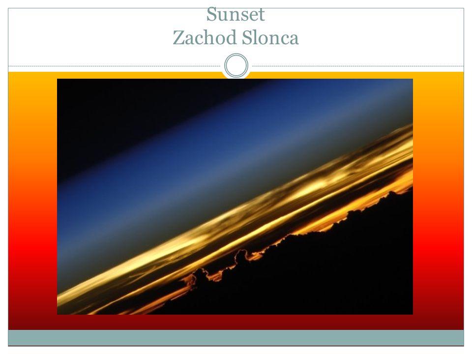 Sunset Zachod Slonca