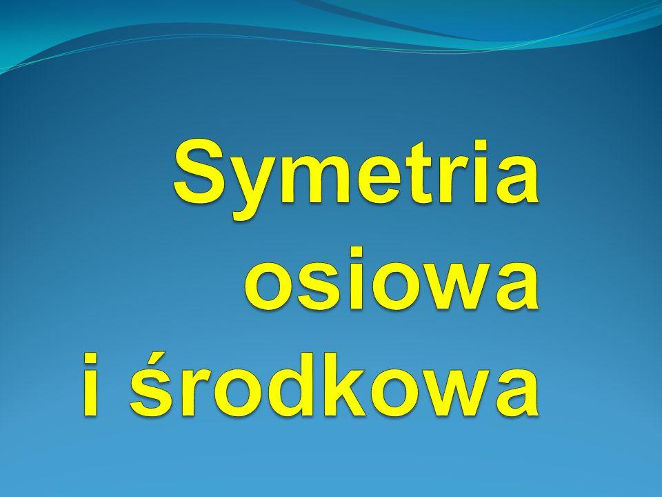 Symetria osiowa (symetria względem osi) – występuje wówczas gdy jedna z figur jest odbiciem drugiej względem narysowanej prostej.
