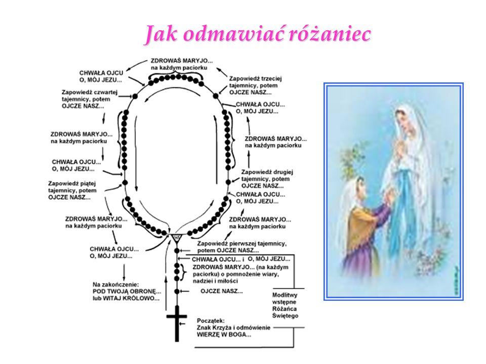 Pozdrowienie Anielskie Zdrowaś Maryjo, łaski pełna, Pan z Tobą.