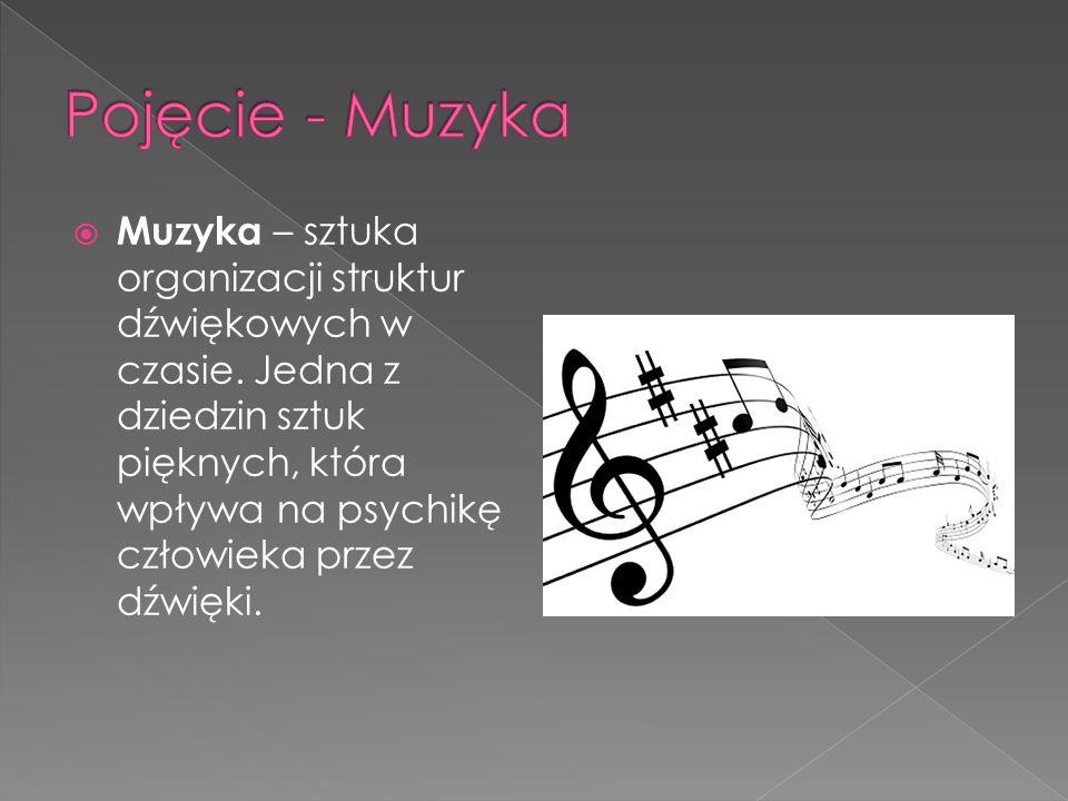 Muzyka – sztuka organizacji struktur dźwiękowych w czasie.