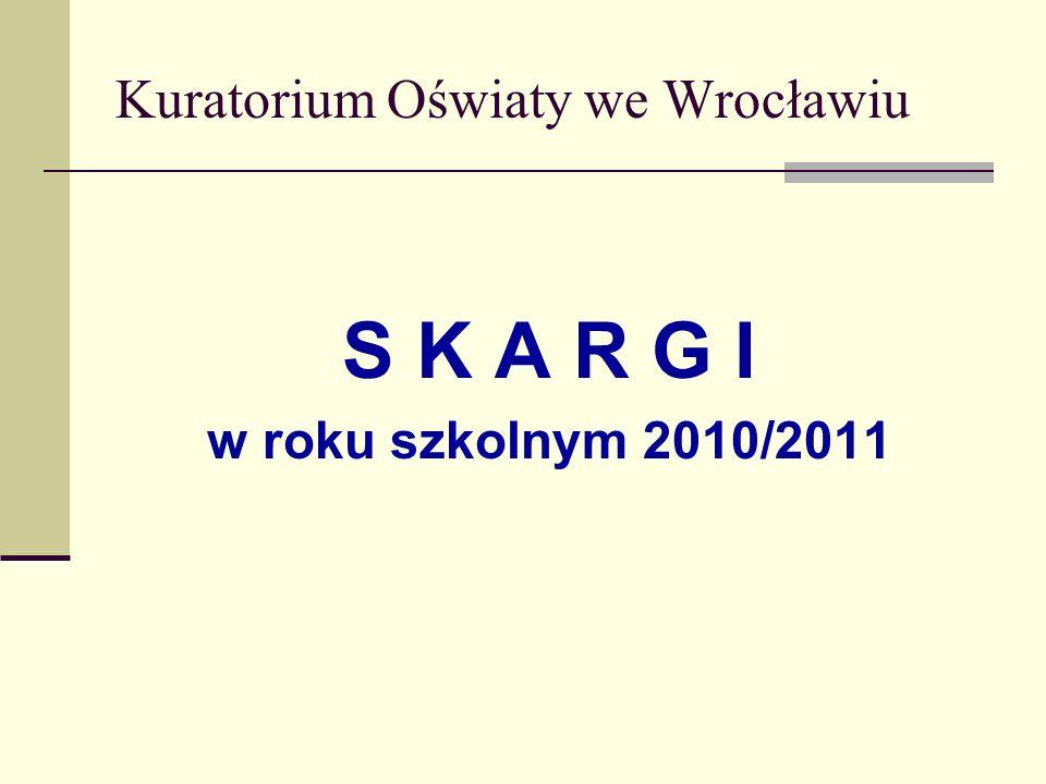Kuratorium Oświaty we Wrocławiu S K A R G I w roku szkolnym 2010/2011
