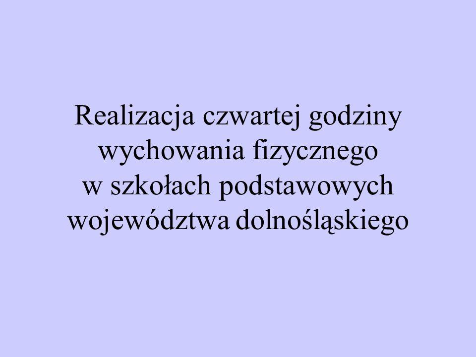 Realizacja czwartej godziny wychowania fizycznego w szkołach podstawowych województwa dolnośląskiego