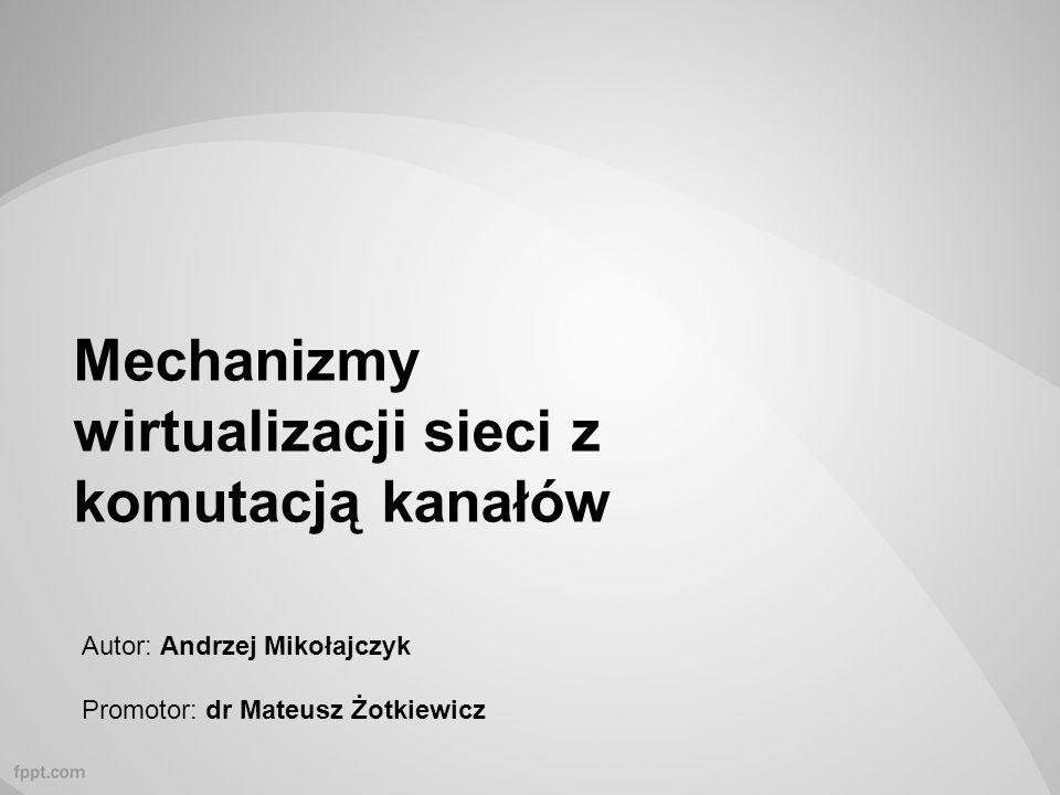 Mechanizmy wirtualizacji sieci z komutacją kanałów Autor: Andrzej Mikołajczyk Promotor: dr Mateusz Żotkiewicz