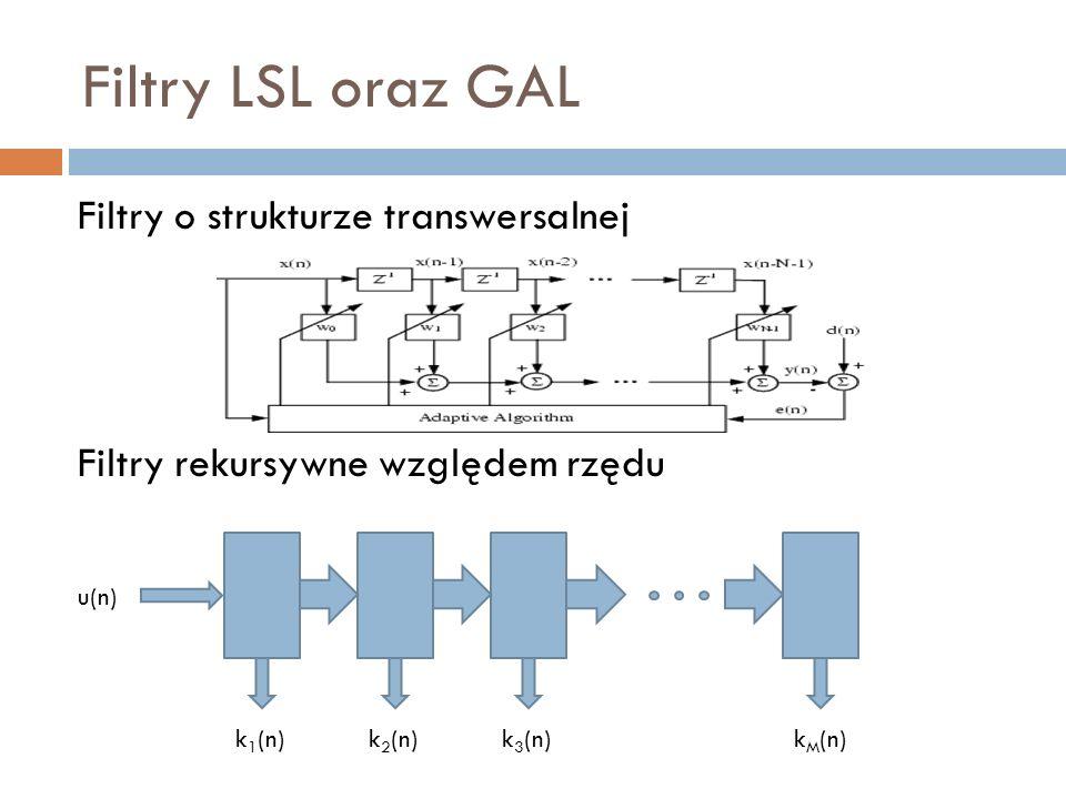 Filtry LSL oraz GAL Dlaczego i gdzie stosujemy filtry o strukturze drabinkowej.