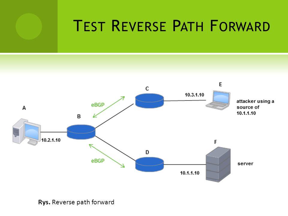 T EST R EVERSE P ATH F ORWARD Rys. Reverse path forward