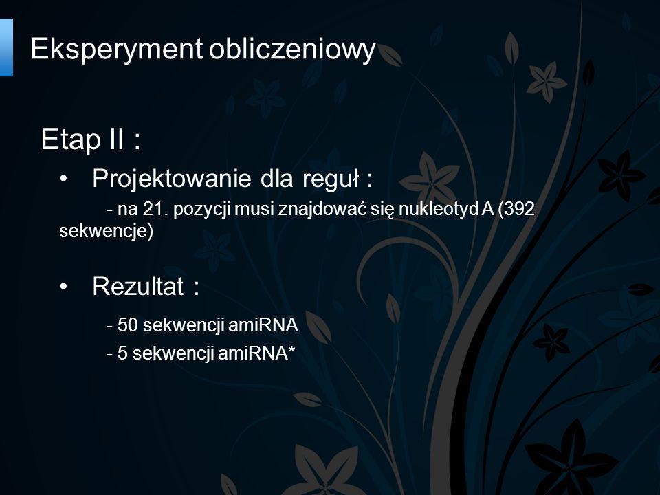 Etap II : Projektowanie dla reguł : - na 21.