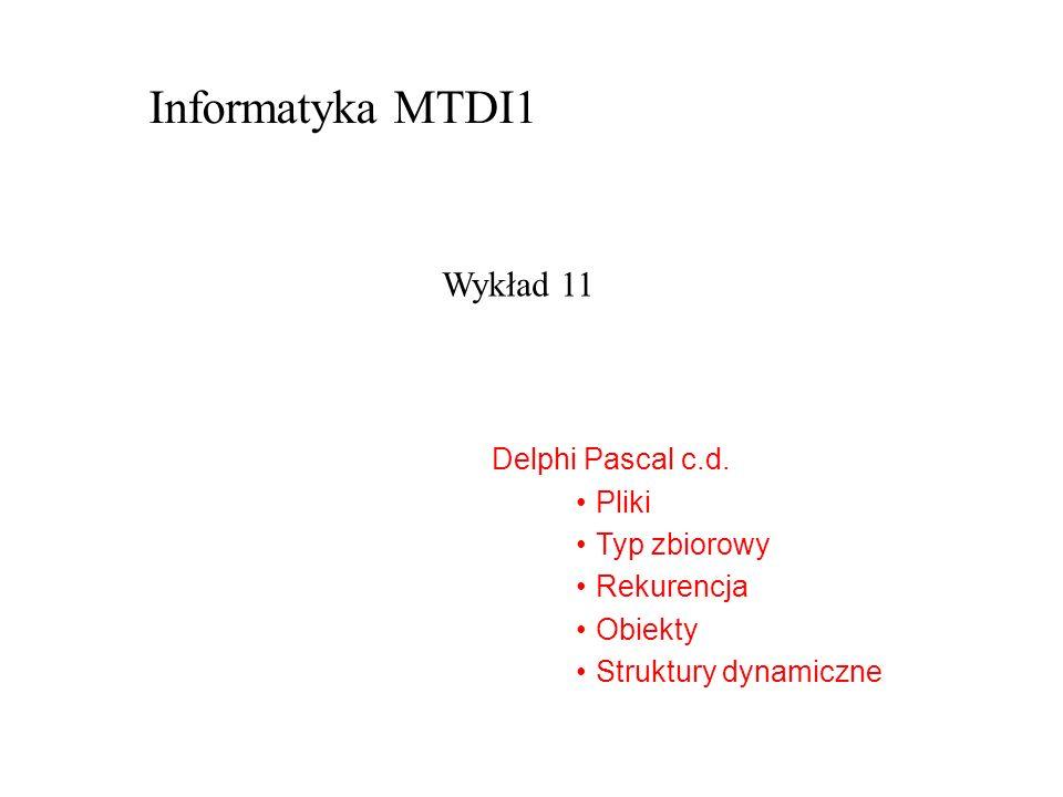 Delphi Pascal c.d.