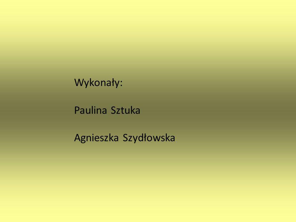 Wykonały: Paulina Sztuka Agnieszka Szydłowska