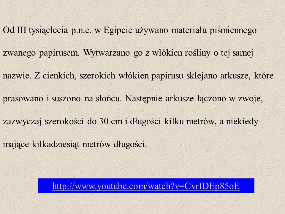 Papirus był materiałem stosunkowo kruchym i nietrwałym, ale pozostał podstawowym materiałem piśmienniczym wczesnego średniowiecza.