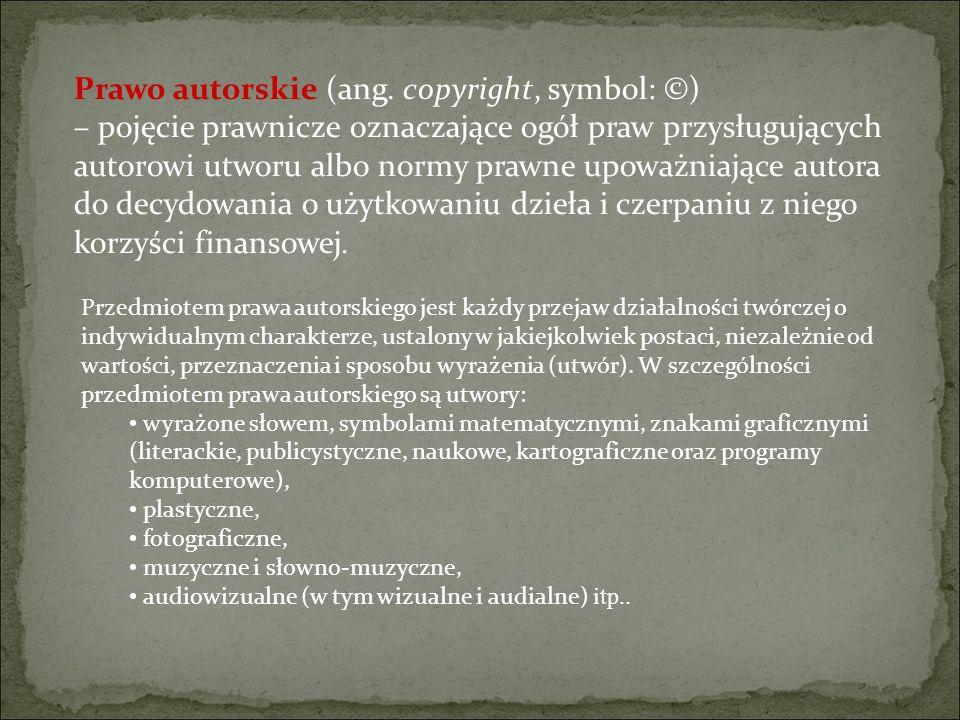 Prawo autorskie (ang.