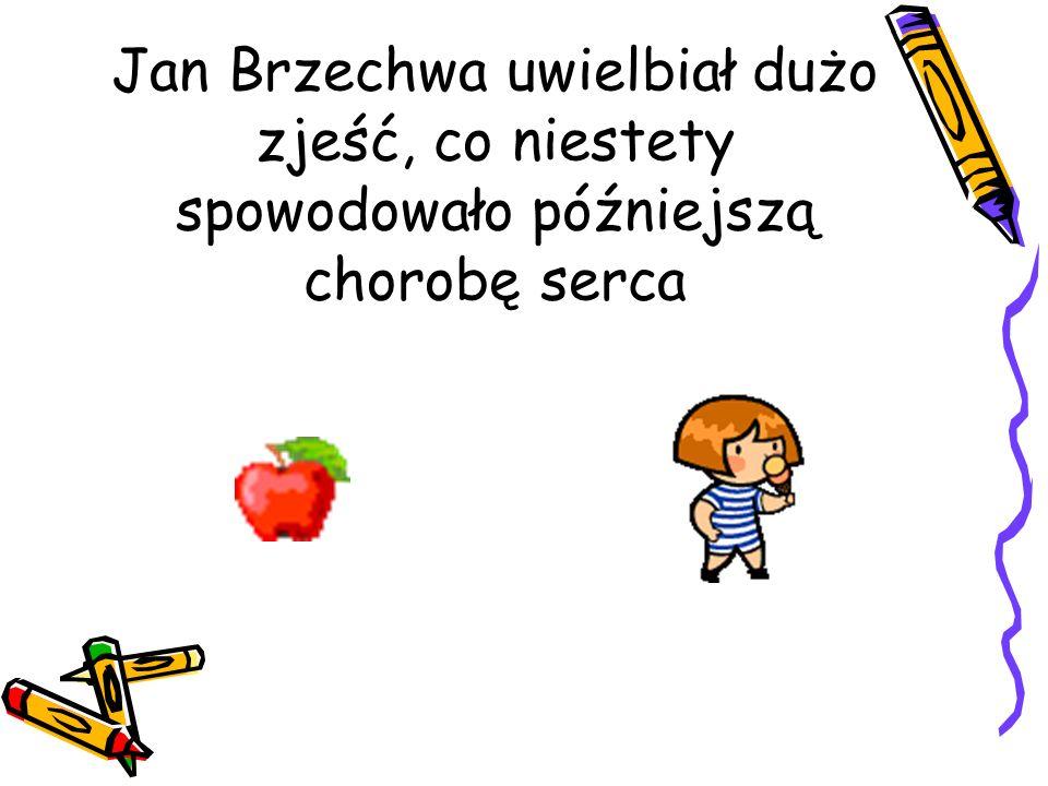 Jan Brzechwa uwielbiał dużo zjeść, co niestety spowodowało późniejszą chorobę serca