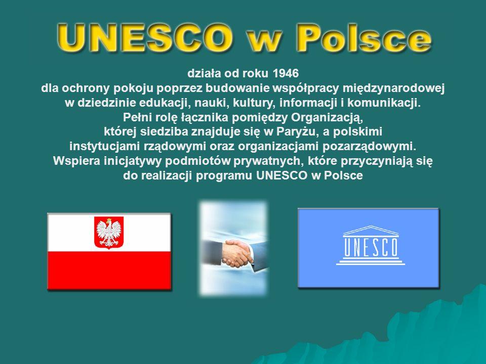 działa od roku 1946 dla ochrony pokoju poprzez budowanie współpracy międzynarodowej w dziedzinie edukacji, nauki, kultury, informacji i komunikacji.