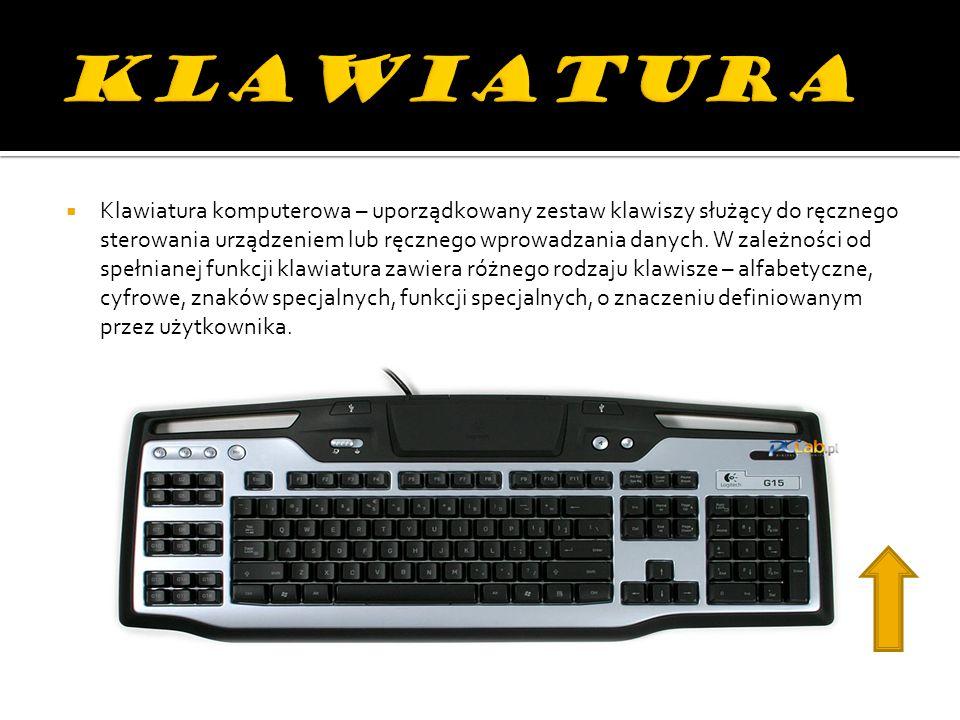 Mysz– urządzenie wskazujące używane podczas pracy z interfejsem graficznym systemu komputerowego.