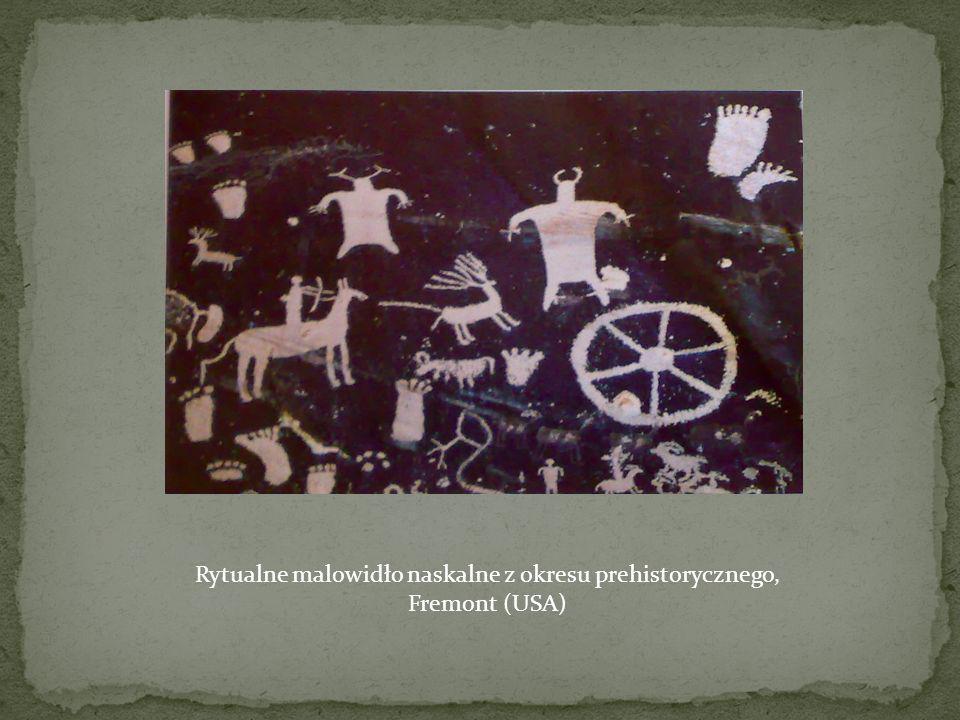 Rytualne malowidło naskalne z okresu prehistorycznego, Fremont (USA)