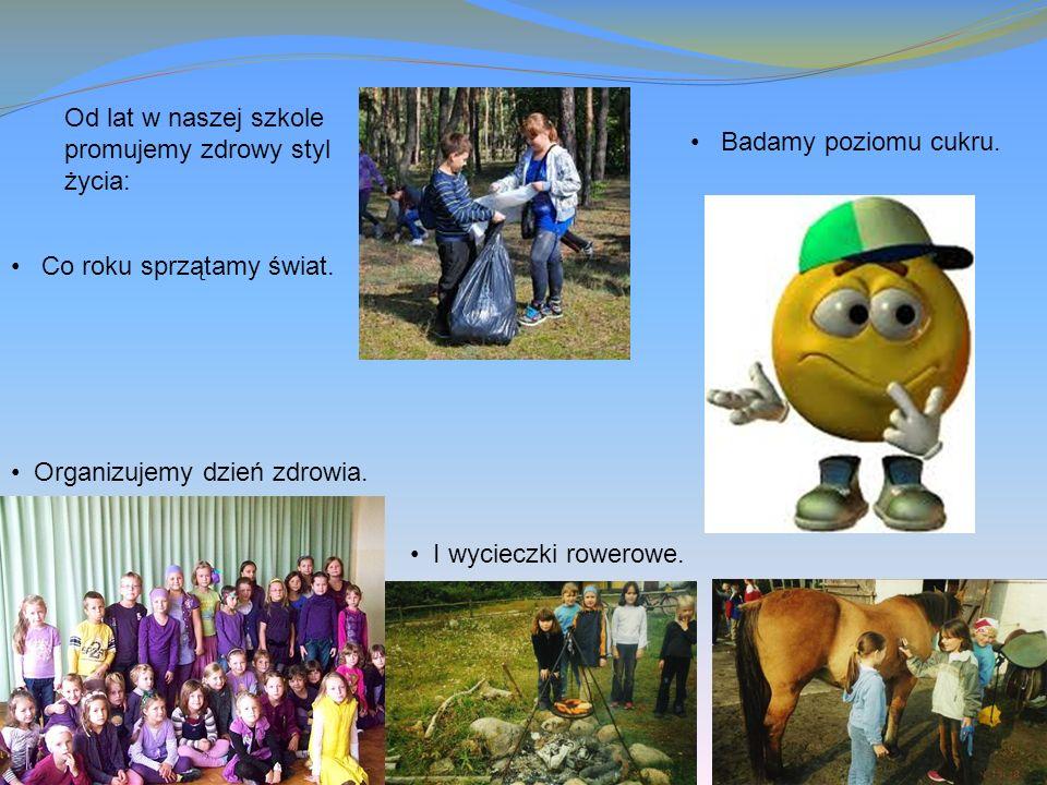 Od lat w naszej szkole promujemy zdrowy styl życia: Co roku sprzątamy świat.