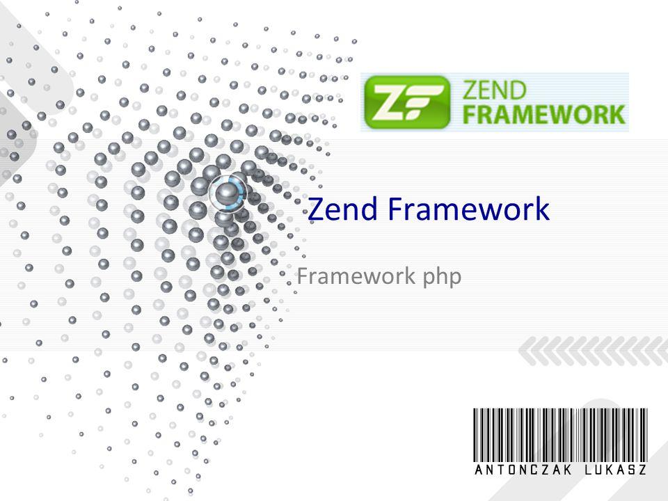 Czas coś poprogramować – index.php Główny kontroler Zend Frameworka, element Zend_Controller, wymaga, by wszystkie żądania HTTP (wywołania stron) przechodziły przez jeden plik, index.php, zwany bootstrapperem <?php date_default_timezone_set( Europe/Warsaw ); define( APP_PATH , dirname(__FILE__)); set_include_path( . .