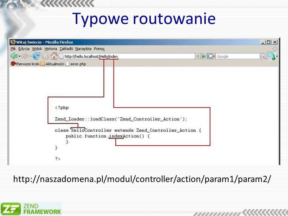 Typowe routowanie http://naszadomena.pl/modul/controller/action/param1/param2/