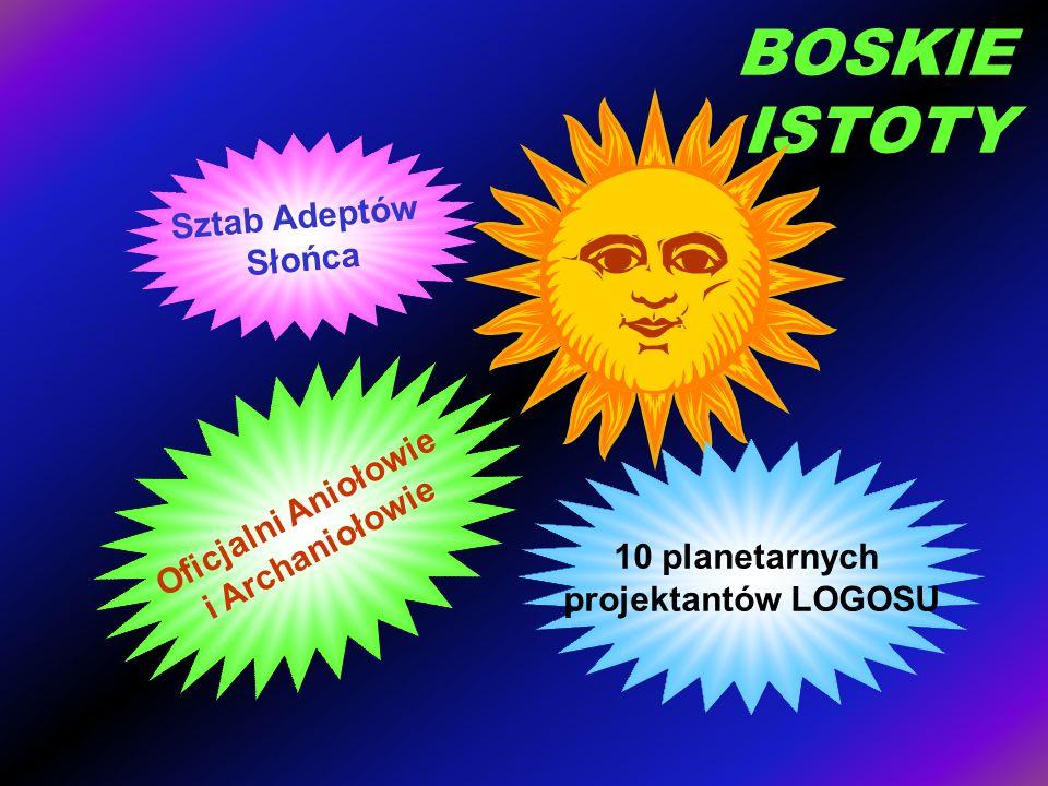 BOSKIE ISTOTY Sztab Adeptów Słońca Oficjalni Aniołowie i Archaniołowie 10 planetarnych projektantów LOGOSU
