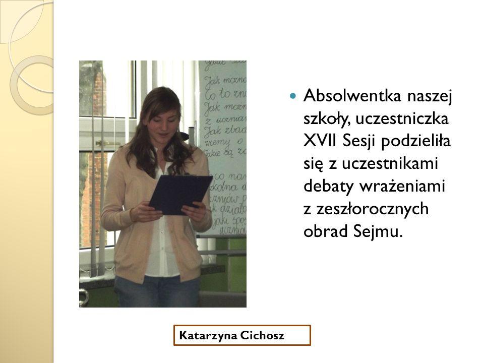 Opiekunka samorządu uczniowskiego w naszej szkole powiedziała kilka słów na temat pracy samorządu.