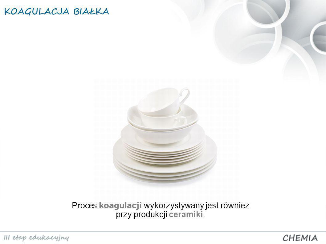 P roces koagulacji wykorzystywany jest również przy produkcji ceramiki.