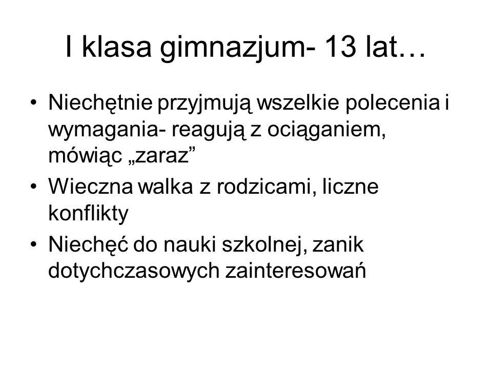 13 lat- emocje…..