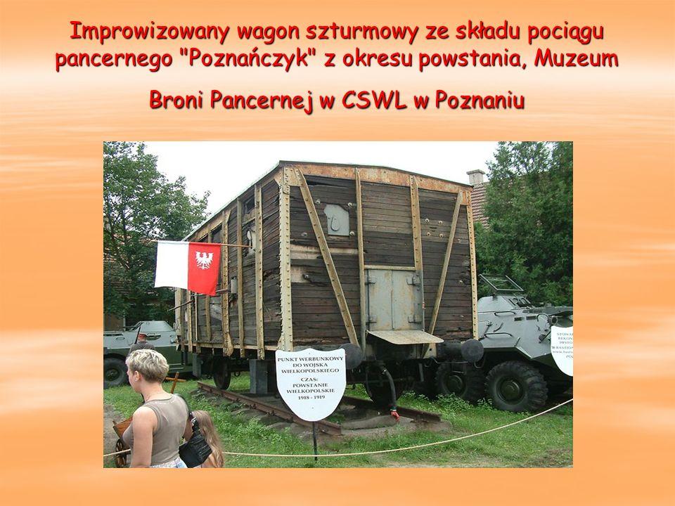 Improwizowany wagon szturmowy ze składu pociągu pancernego
