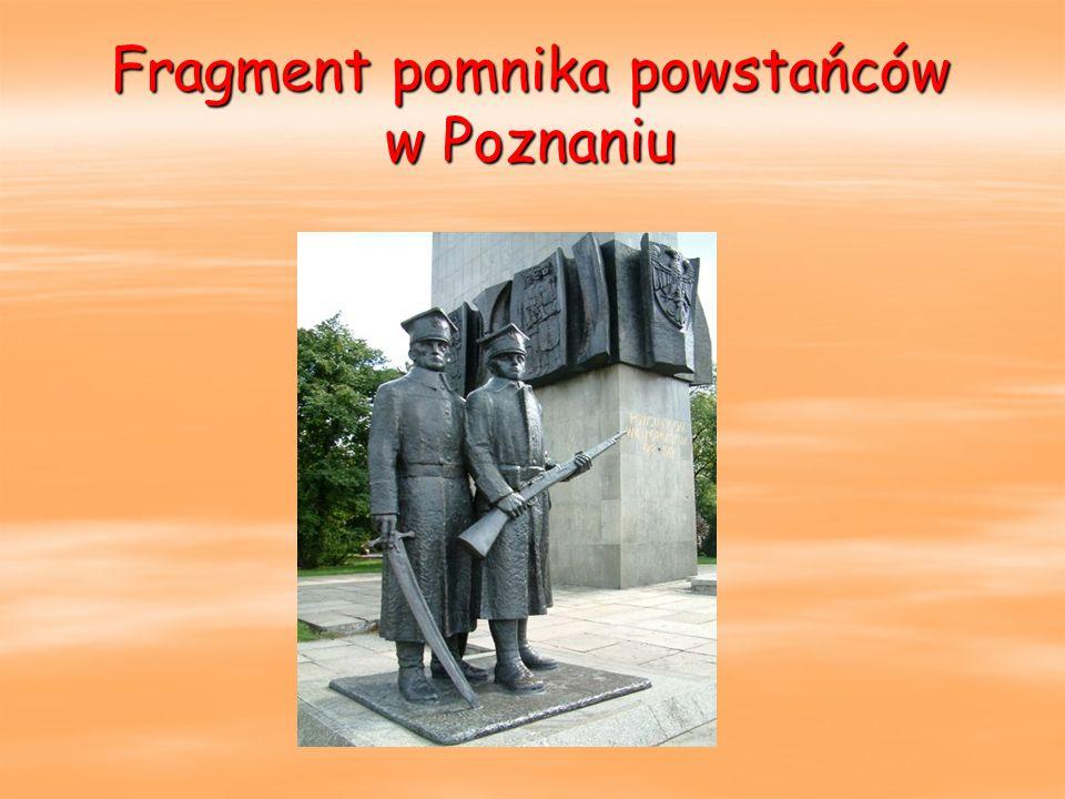 Fragment pomnika powstańców w Poznaniu