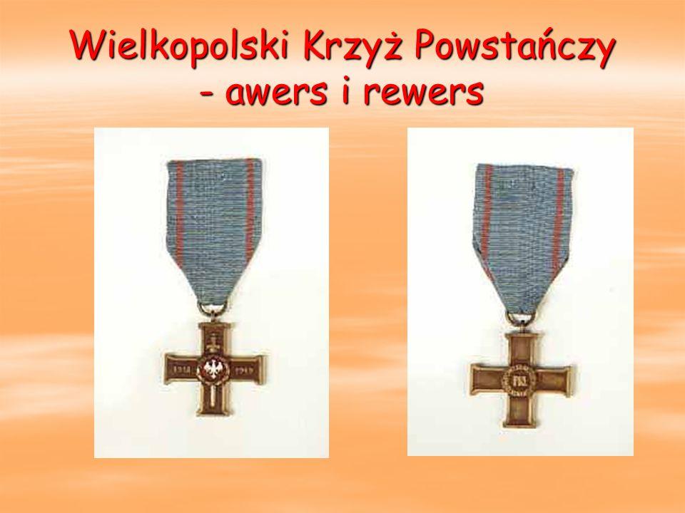 Wielkopolski Krzyż Powstańczy - awers i rewers